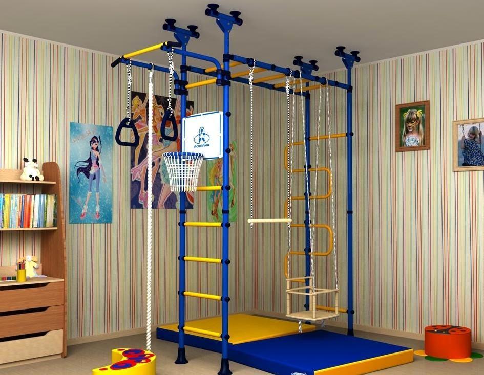 Организация спортивной зоны в комнате мальчика