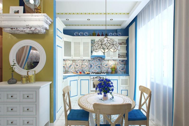 Оформление кухонного пространства в средиземноморском стиле