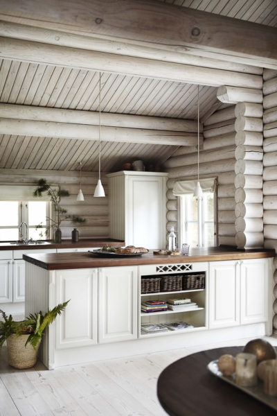 Скандинавская кухня в дачном доме