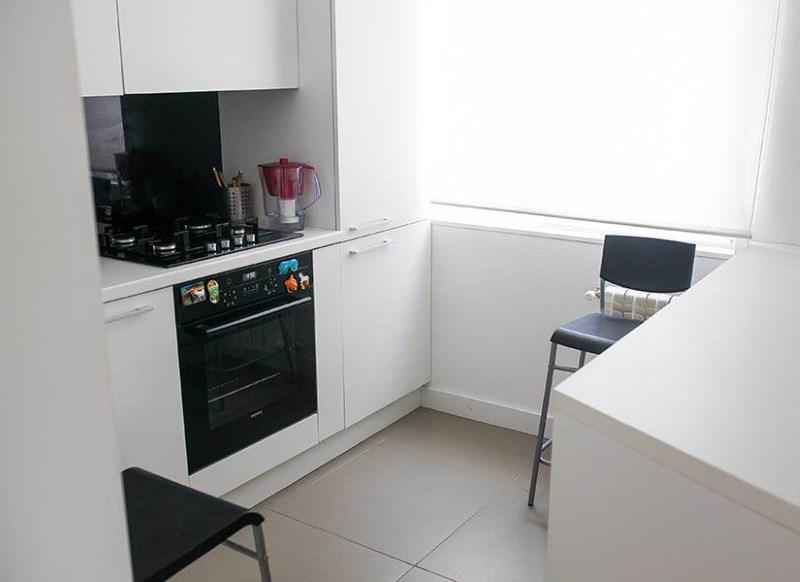 Интерьер кухни площадью в 6 кв метров в стиле минимализма