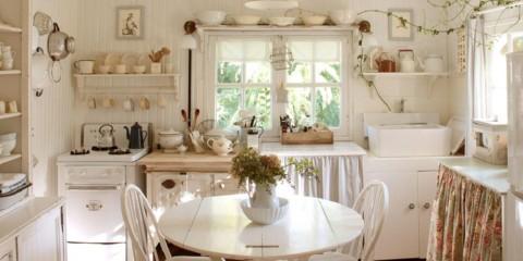 Тканевый абажур на кухне