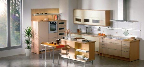 Удачная планировка кухни