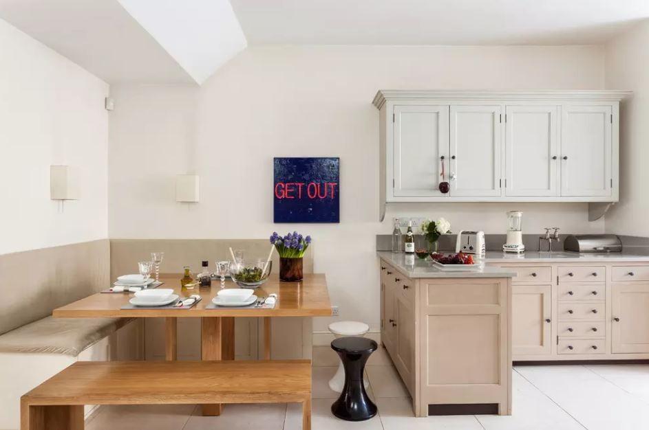 Оформление обеденной зоны на кухне площадью в 13 квадратов