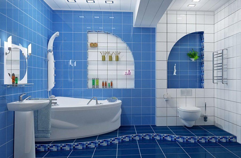 Дизайн современной ванной в морской стилистике