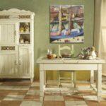 Вариант цвета для окраски стен в кухне в стиле кантри