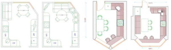 Варианты планировки и зонирования