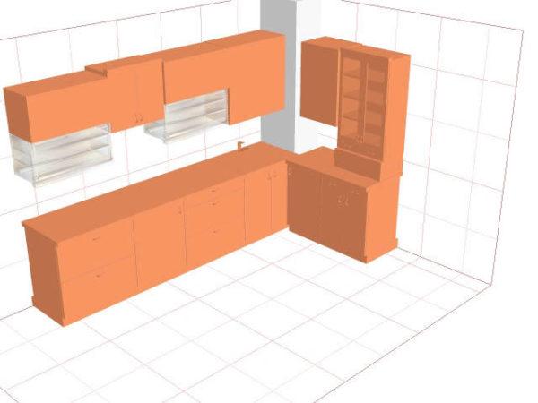 Вентиляционный короб в углу кухни