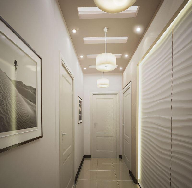 Освещение узкого коридора в хрущевке