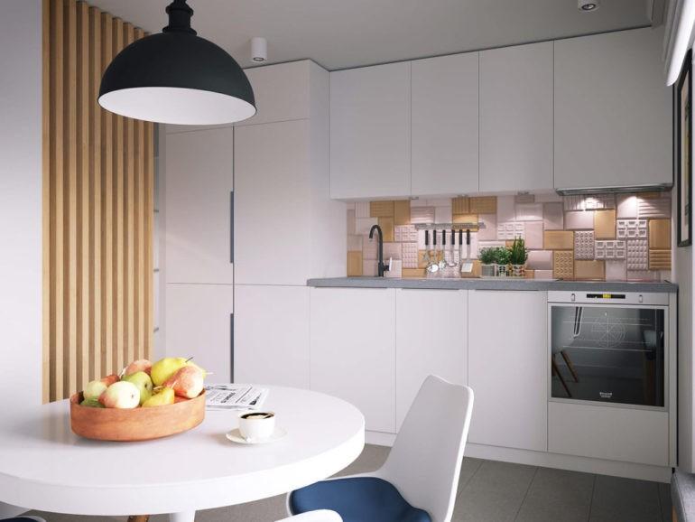 Дизайн кухни с мебелью в стиле минимализма