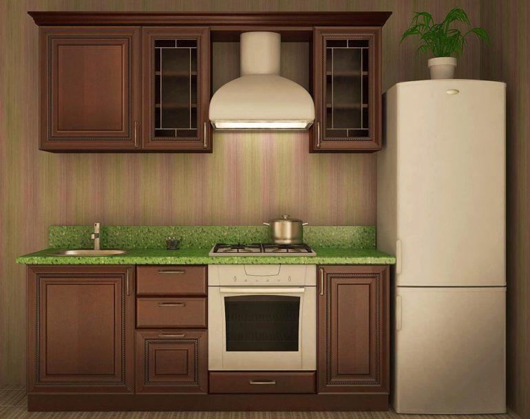 Вариант линейной планировки кухни в хрущевке