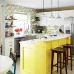 Желтая барная стойка-остров