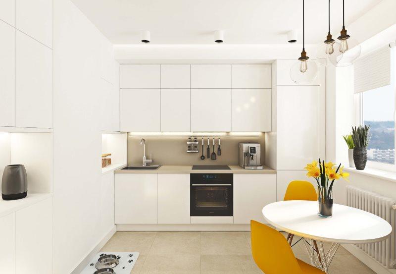Дизайн белой кухни в стиле минимализма