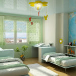 Легкие шторы в дизайне детской