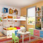 Корпусная мебель в комнате для малышей