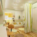 Дизайн современной детской комнаты для двоих