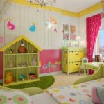 Дизайн комнаты с детской мебелью