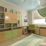 Интерьер детской с корпусной мебелью