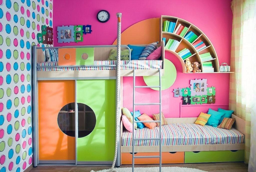 Интерьер детской комнаты в стиле поп арт