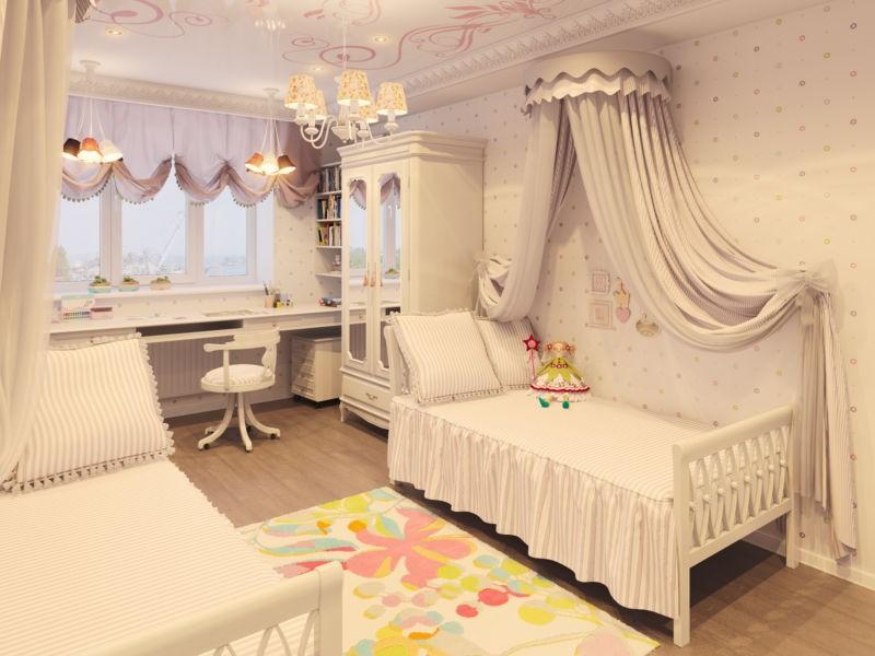 Интерьер детской комнаты в стиле классики