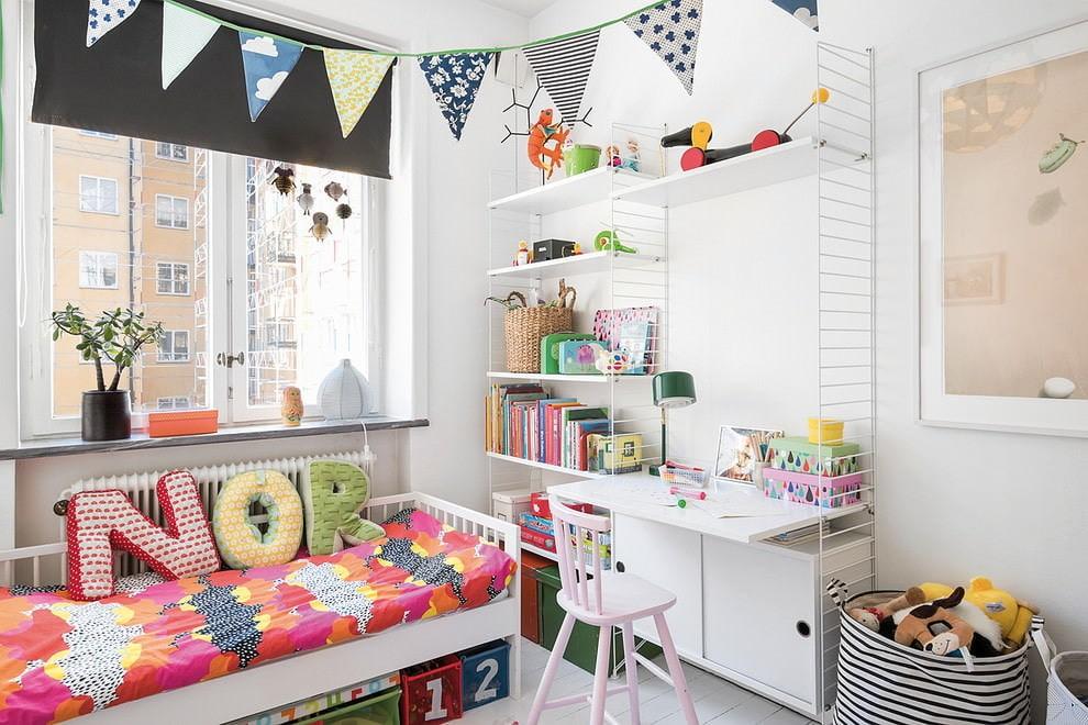 Маленькая детская комната в скандинавском стиле