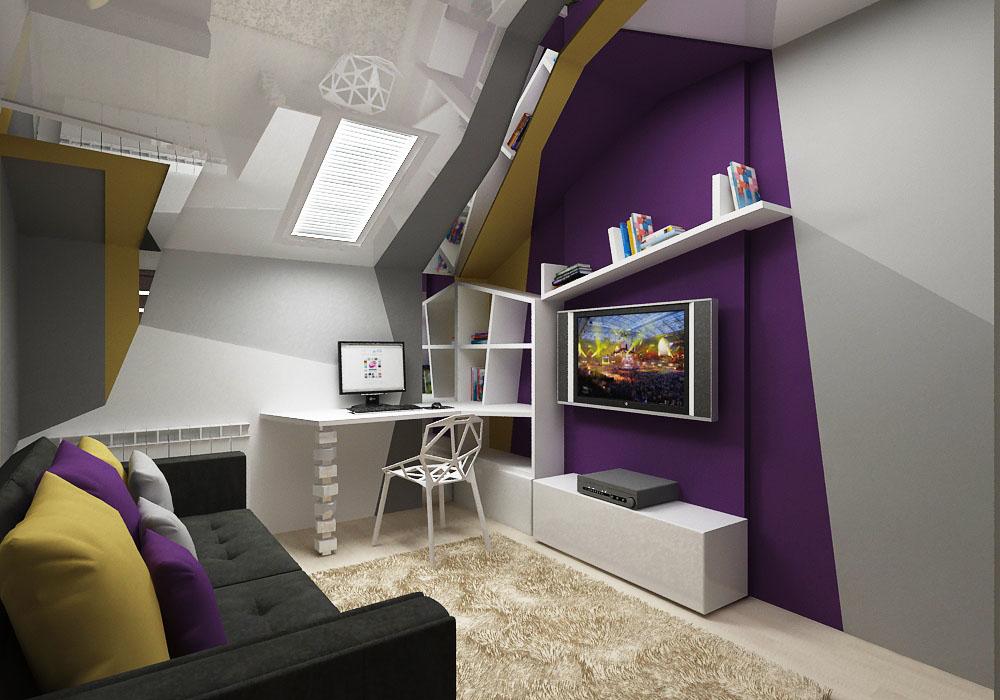 Оформление детской комнаты в стиле конструктивизма