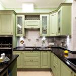 Черные столешницы кухонного гарнитура