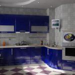 Интерьер кухни сложной конфигурации