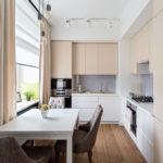 Дизайн маленькой кухне в панельном доме