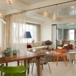 Оформление пространства в кухне-гостиной