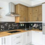 Грифельная доска на кухонном фартуке