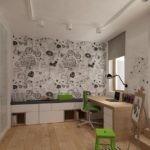 Мольберн в комнате юного художника