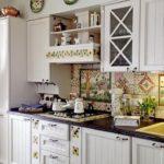 кухонный гарнитур в деревенском стиле