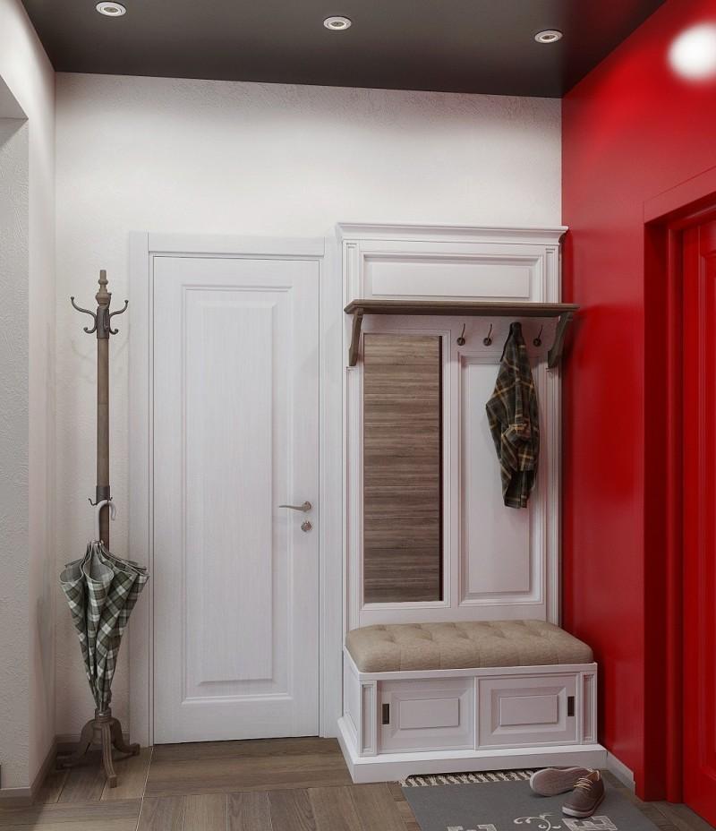 Натяжной потолок в узкой прихожей дизайн фото то, что