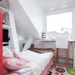 Обустройство маленькой спальни в мансардном помещении