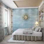 интерьер спальной комнаты с элементами прованса