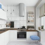 Дизайн современной кухни с балконом