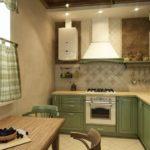 Угловая кухня в стиле прованса