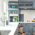 Кухонный гарнитур с удобными дверцами