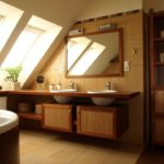 Обустройство ванной в мансарде частного дома
