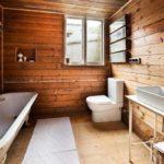 Накладной умывальник в ванной комнате