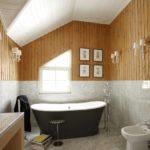 Акриловая ванна с черными стенками