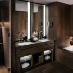 Дизайн ванной в темных тонах