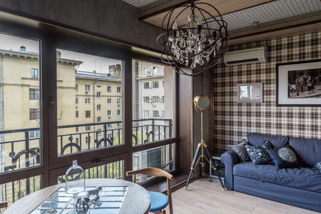 Французское окно в гостинке после переделки
