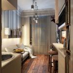 Освещение комнаты в маленькой квартире студии