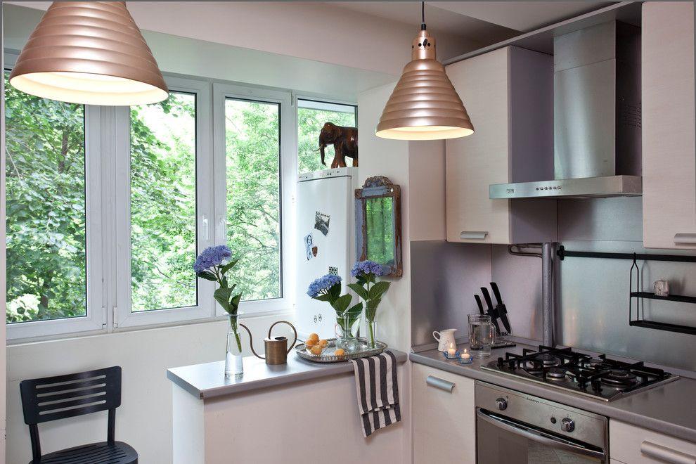 Интерьер малогабаритной кухни после присоединения балкона