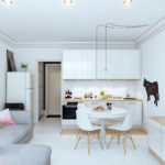 Обеденная зона в однокомнатной квартире