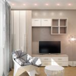 Корпусная мебель в дизайне городской квартиры