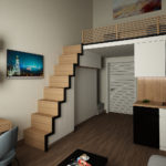 Дизайн двухъярусной квартиры в современном стиле