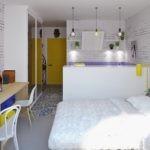 Двухспальная кровать в однокомнатной квартире