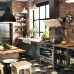 Небольшая кухня в стиле лофта